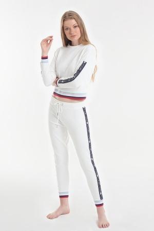 Комплект (кофта+брюки) Yoors Star Y2019AW0098 білий фото