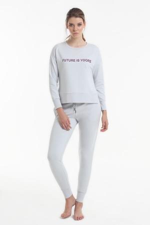 Комплект (кофта+брюки) Yoors Star Y2019AW0097 серый фото
