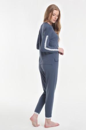 Жіноча піжама Yoors Star Y2019AW0129 темно-синій фото