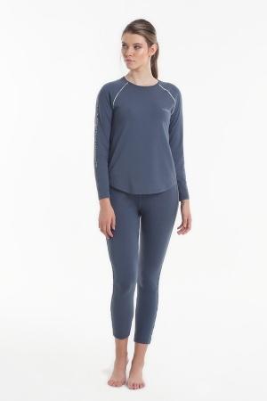 Жіноча піжама Yoors Star Y2019AW0126 темно синя фото