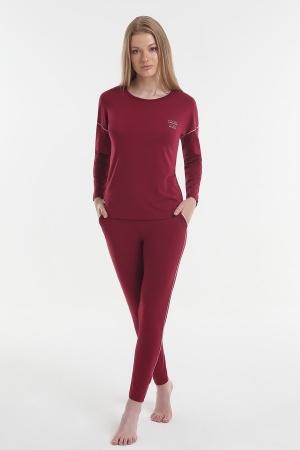 Жіноча піжама Yoors Star Y2019AW0127 бордова фото