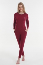 Women's pajamas Yoors Star Y2019AW0127 Burgundy			 фото