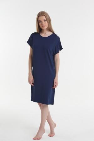 Нічна рубашка Yoors Star Y2019AW0056 синя фото 2