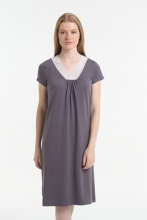 Nightdress Yoors Star Y2019AW0089 clove Grey фото