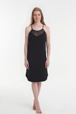 Нічна рубашка Yoors Star Y2019AW0034 чорна фото