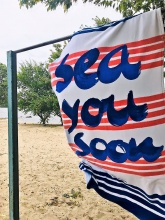 Beach towel Tom Tailor velour Sea You Soon фото