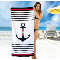 Beach towel Vende velour Sea Anchor фото