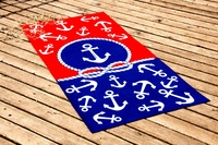 Beach towel Vende velour Red & Blue фото