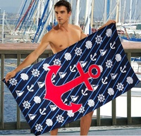 Beach towel Vende velour Sea Adventure Blue			 фото