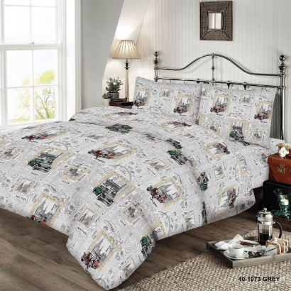 Bed linen set ZASTELLI 40-1073 Grey Cotton Gold  фото 4