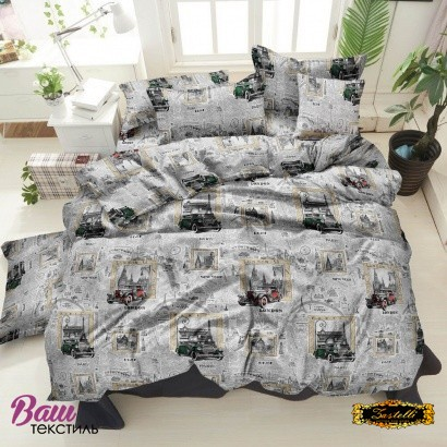 Bed linen set ZASTELLI 40-1073 Grey Cotton Gold  фото