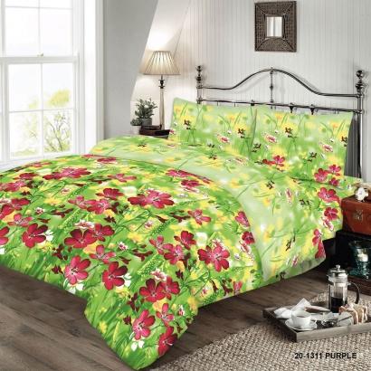 Bed linen set ZASTELLI 20-1311 Purple Cotton Gold  фото 4