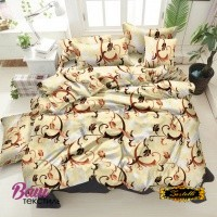 Bed linen set ZASTELLI 40-0576 Brown Cotton Gold фото