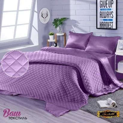 Постельное белье с покрывалом Zastelli Orchid шелк лиловый фото