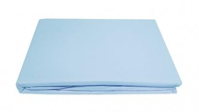 Простынь на резинке Word of Dream перкаль голубая фото 4