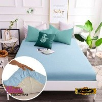 Fitted sheet Word of Dream Percale blue фото