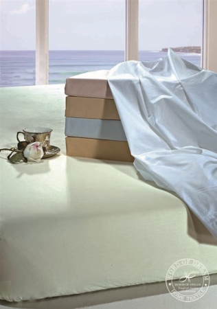 Fitted sheet Word of Dream Percale beige фото 2