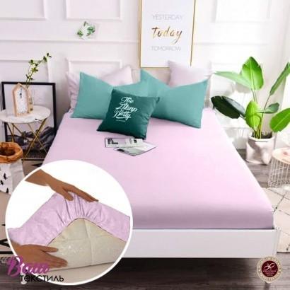Простынь на резинке Word of Dream перкаль розовая фото