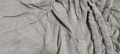 Простынь на резинке Джерси-роллы ZASTELLI Grey фото 2