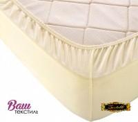 Fitted sheet Jersey-rolled ZASTELLI 160х200 Ivory фото
