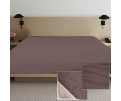 Fitted sheet Jersey-rolled ZASTELLI Brown фото 3