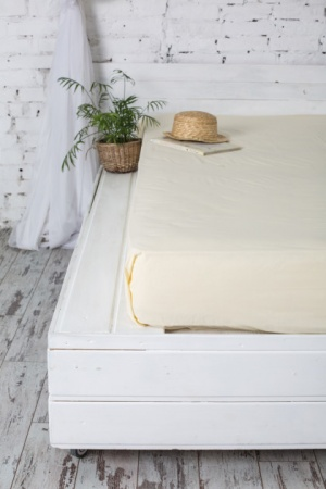 Fitted sheet Jersey-rolled ZASTELLI Ivory фото 4