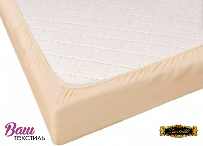 Fitted sheet Jersey-rolled ZASTELLI Light Beige фото