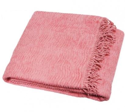 Плед покривало антикiготь Шенілл ZASTELLI бавовна Рожевий фото