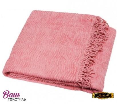Плед покривало антикiготь Шенілл ZASTELLI бавовна Рожевий фото 2