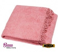 Plaid-bedspread ZASTELLI Shenille cotton Pink фото