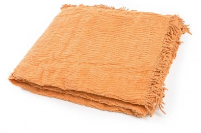 Plaid-bedspread ZASTELLI Shenille cotton Peach фото 3