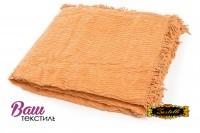 Plaid-bedspread ZASTELLI Shenille cotton Peach фото