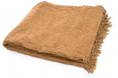 Plaid-bedspread ZASTELLI Shenille cotton Beige фото 3