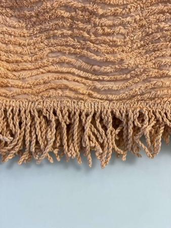 Plaid-bedspread ZASTELLI Shenille cotton Beige фото 7