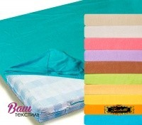 Fitted sheet Jersey ZASTELLI blue фото