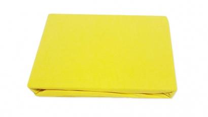 Простирадло на резинці Джерсі ZASTELLI жовте фото