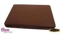 Fitted sheet Jersey ZASTELLI brown фото