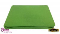 Простынь на резинке Джерси ZASTELLI зеленая фото