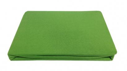 Простынь на резинке Джерси ZASTELLI зеленая фото 2