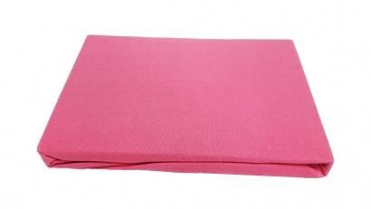 Простынь на резинке Джерси ZASTELLI розовая фото 2