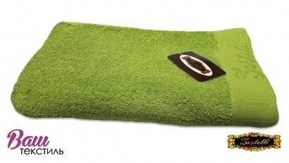 Пляжное полотенце ZASTELLI Border Зеленое махра фото