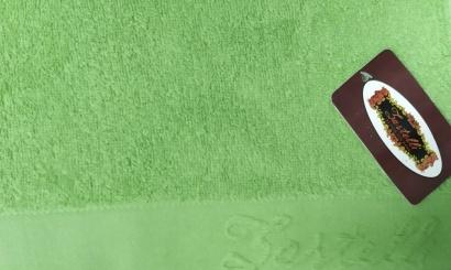 Пляжное полотенце ZASTELLI Border Зеленое махра фото 2