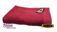Beach terry solid color Towel Zastelli Border Bordeaux фото