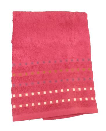 Банное полотенце ZASTELLI Мозаика Бордовое махра фото 4