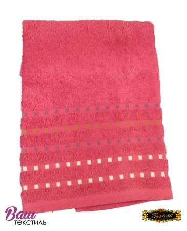 Банное полотенце ZASTELLI Мозаика Бордовое махра фото