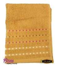 Банное полотенце ZASTELLI Мозаика Бежевое махра фото