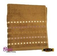 Банное полотенце ZASTELLI Мозаика Шоколадное махра фото