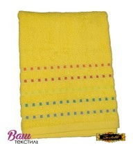 Bath terry towel Zastelli Mosaic Yellow фото