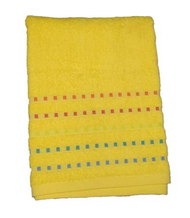 Банний рушник ZASTELLI Мозаїка Жовте махра фото 3