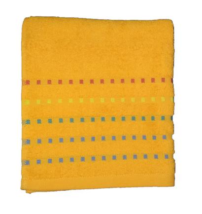 Банное полотенце ZASTELLI Мозаика Оранжевое махра фото 4